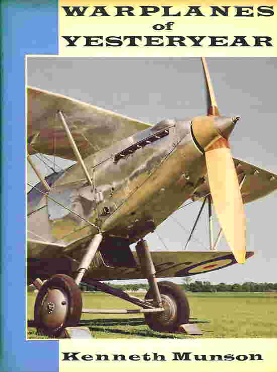 Image not found :Warplanes of Yesteryear (Allan, with dustjacket)