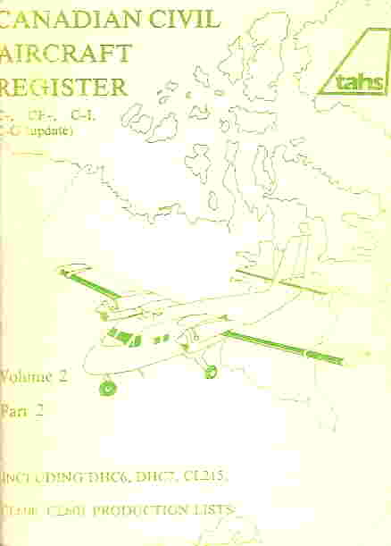 Image not found :Canadian Civil Aircraft Register Volume 2, Part 1 CF-RDK and up
