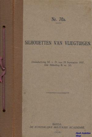 Image not found :Silhouetten van Vliegtuigen (Nr.70a - 1939)