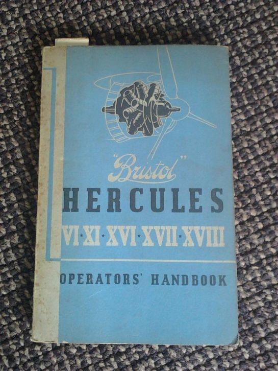 Image not found :Bristol Hercules VI-XI-XVI-XVII-XVIII Operators's handbook
