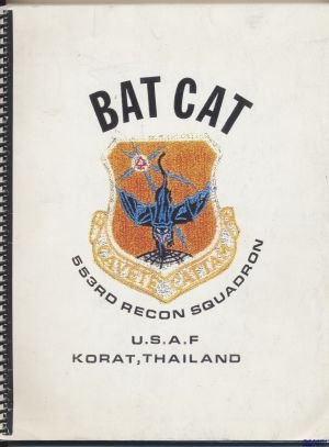 Image not found :Bat Cat, 553rd Recon Squadron USAF Korat, Thailand (copy)