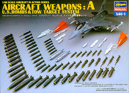 Image not found :Weapons: A - US Bombs & Tow Target System