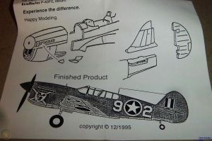Image not found :Curtiss P-40K conversion