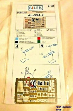 Image not found :Bilek Eduard Color PE - Photo Etched Parts For Ju 88A 4