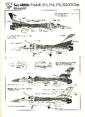 Image not found :F-16A/B 311, 314, 315, 322/323 sqn, F-16A 40 jaar 311 sqn, F-16B 10 jaar F-16