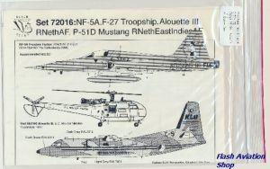 Image not found :NF-5A 'Redskins Go F-16', F-27 Troopship '75 jaar KLu', P-51D Mustang, Alouette III