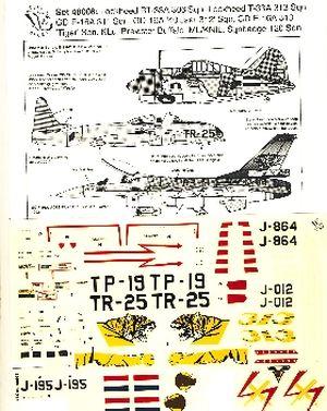 Image not found :Lockheed (R)T-33 KLu 306, 313 sqn, F-16A 311 sqn en 313 sqn Tiger . Brewster Buffalo 120 sqn