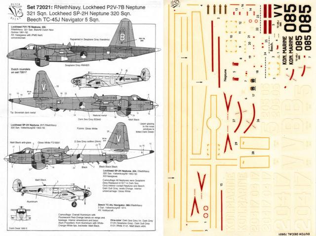 Image not found :Lockheed P2V-7B / SP-2H Neptune MLD, Beech Navigator KLu