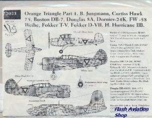 Image not found :Oranje Driehoek part 1; Curtiss Hawk 75, Fokker T.V, Douglas DB-7, Dornier Do.24K, Fokker D.VII, Hawker Hurricane IIB, Bucker Jungmann, Fw.58