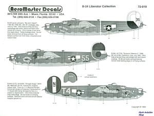 Image not found :B-24 Liberator Collection; '716 BS My Achin' Back!', 726 BS 'Screamin' Meemie II', 845 BS