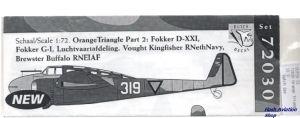Image not found :Orange Triangle part 2; Fokker G-1, Fokker D.XXI, LVA, Buffalo RNEIAF, Kingfisher