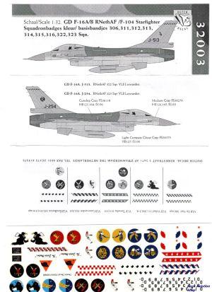 Image not found :F-104G/F-16 squadron badges kleur/basisbandjes, 306, 311, 312, 313, 314, 315, 316, 322, 323 sqn