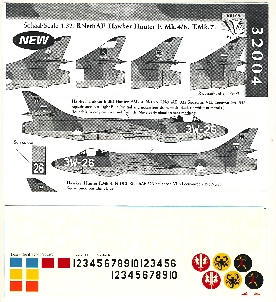 Image not found :Hawker Hunter Mk.4/6 en T.Mk.7 KLu; 322, 323, 324, 326 and 327 squadron (roundels not included)