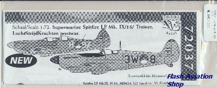Image not found :Luchtmacht Spitfire LF.Mk.IX/Trainer LSK post war