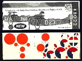 Image not found :Fokker D.VII, MLD en LVA (roundels included)
