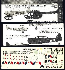 Image not found :Bolkow Bo.105 KLu IFOR/UN, Harvard IIB MLD & LSK, Tiger Moth LSK