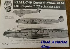 Image not found :KLM L-749 Constellation, two scheme's, DH Rapide