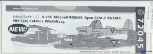 Image not found :PBY-5A Catalina RNethNavy, Ryan STM-2 and B-25C Mitchell