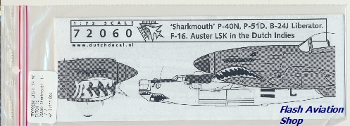 Image not found :Sharkmouth; P-51, P-40N, Liberator, F-16 & Auster Dutch East Indies