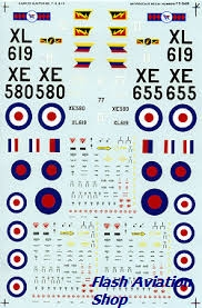 Image not found :Hunter RAF T.7 45 Sqn, FGA.9 8 Sqn, FR.10 4 Sqn.