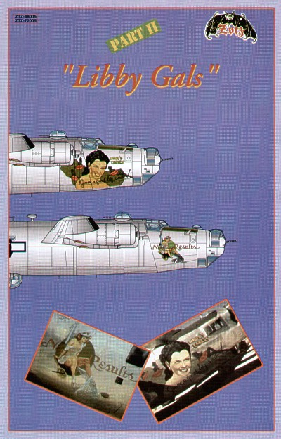 Image not found :Libby Gals Part 2, 1/72 B-24's with sexy noseart