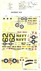Image not found :USA/GB Sikorsky S-55; Royal Navy, US Navy, US Marines, Vertol 107