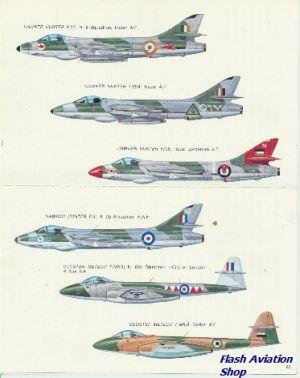 Image not found :Hawker Hunter RAF, Indian AF, Saudie Arabia, Dutch 323 emblem