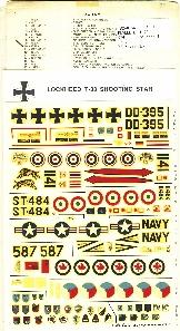 Image not found :Lockheed T-33 Shooting Star, Luftwaffe, Thai AF, ItAF, US Navy, RCAF, KLu (TNethAF)