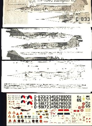 Image not found :T/F-104G Starfighter KLu, all squadrons including sharkmouth & KLu65