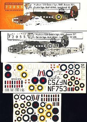 Image not found :Hudson 320 squadron, RAF Anson 321 sqn, Lockheed 12 LSK