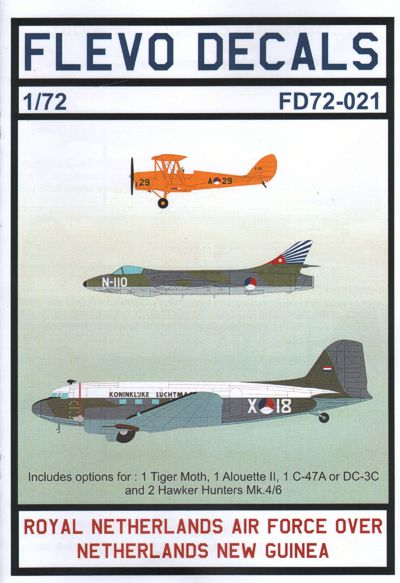 Image not found :Royal Netherlands Air Force over Netherlands New Guinea, DH.82 Tiger Moth, Dakota, Hunter (Papoua New Guinea), Alouette II