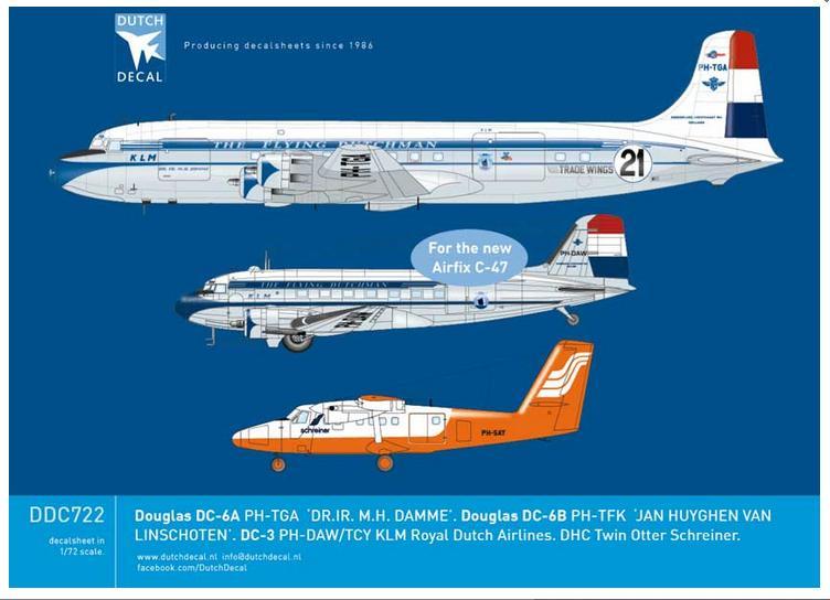 Image not found :Douglas DC-6A KLM PH-TGA, DC-6B PH-TFK, DC-3 KLM PH-DAW / PH-TCY, Twin Otter Schreiner