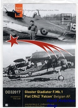 Image not found :Fiat CR.42 'Falcon' and Gloster Gladiator Belgian Air Force. Limited Run