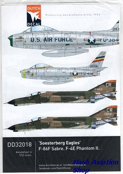 Image not found :'Soesterberg Eagles'; 32th TFS USAFE F-86F Sabre, F-100 Super Sabre en F-4E Phantom II, maar GEEN F-15 Eagles !!