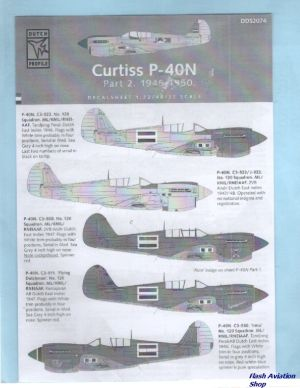 Image not found :Curtiss P-40N, 1/72, 1/48 and 1/32 scale