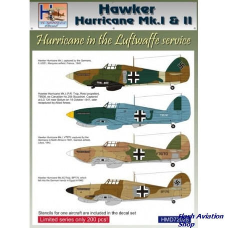 Image not found :Hawker Hurricane Mk.I / Mk.II Luftwaffe service