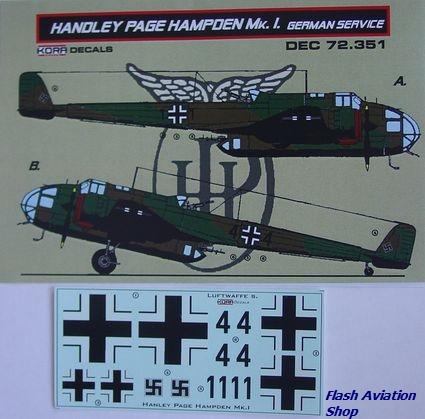 Image not found :Handley Page Hampden Mk1 in Luftwaffe Service