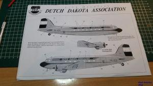 Image not found :Dutch Dakota Association PH-DDA Decalset