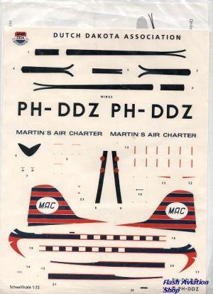 Image not found :Dutch Dakota Association PH-DDZ Martin's Air Charter Decalset