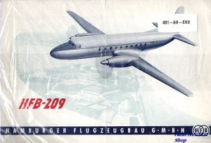 Image not found :HFB-209, Hamburger Flugzeugbau GMBH (2 A4 leaflets)