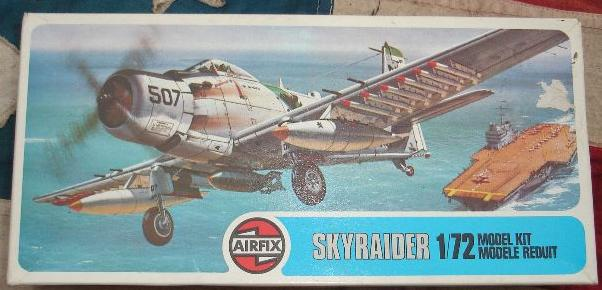 Image not found :(Douglas A-1J) Skyraider (white box, blue logo)