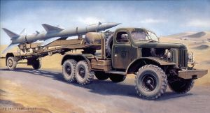 Image not found :Sa-2 Guideline Missile on Transport YTrailer (W.Load.Cabin)