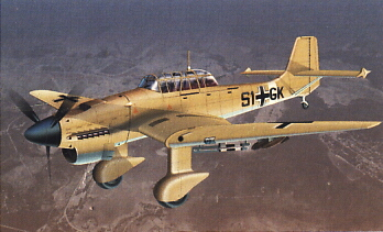 Image not found :Ju.87 Stuka, Luftwaffe 51+GK tropical