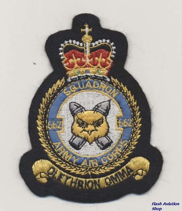Image not found :Squadron 662, Army Air Corps, 'Olethrion Omma'
