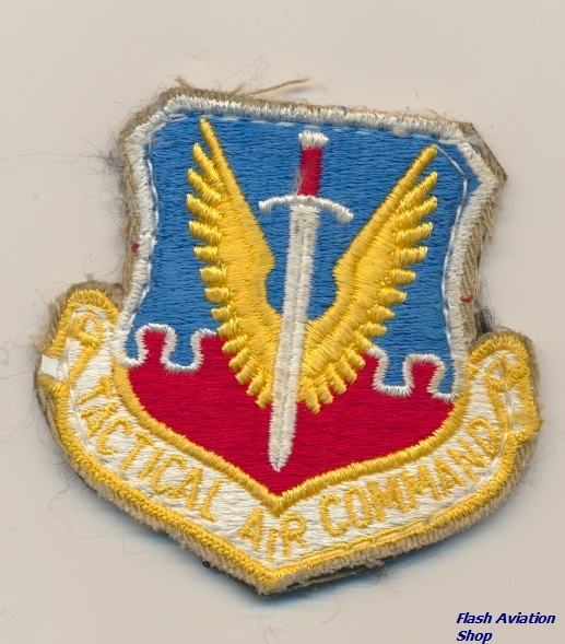 Image not found :Tactical Air Command (Shield, Small, Velcro, 7,5 cm)