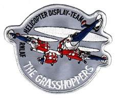 Image not found :RNLAF Helicopter Display Team, the Grasshoppers (white border)