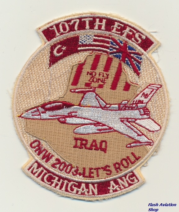 Image not found :107th EFS, Iraq, ONW 2003 - Let's Roll, Michigan ANG (Desert)