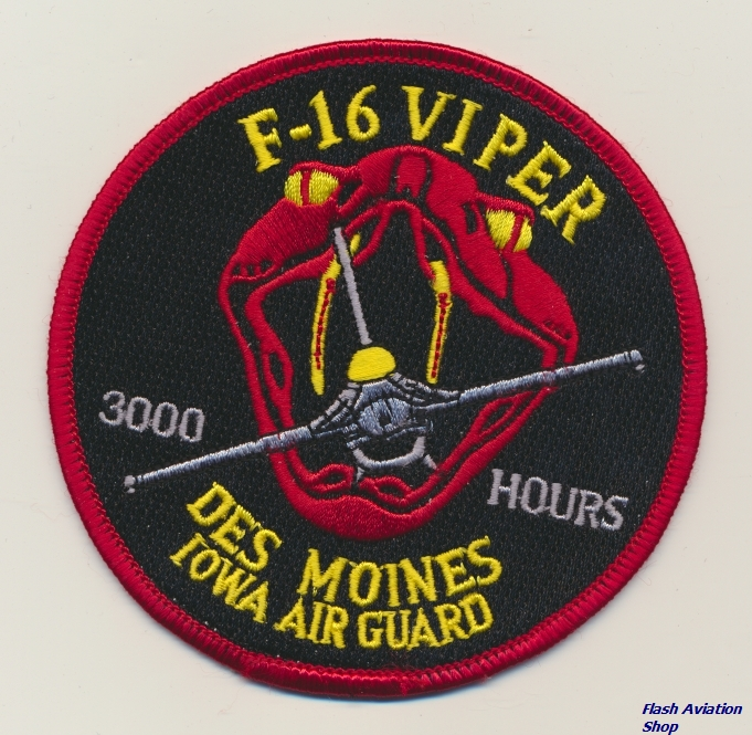 Image not found :F-16 Viper, Des Moines Iowa Air Guard, 3000 hours