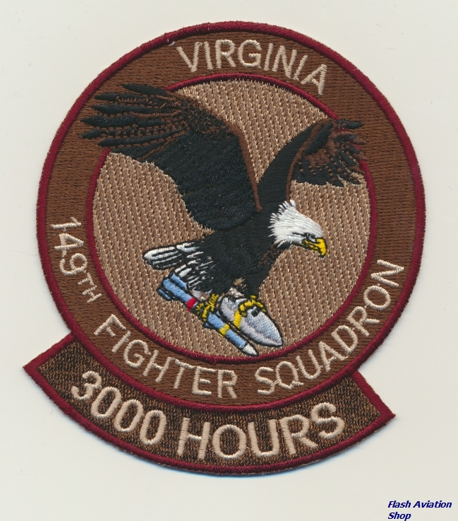 Image not found :149th Fighter Squadron, Virginia, 3000 Hours (F-16C/D)