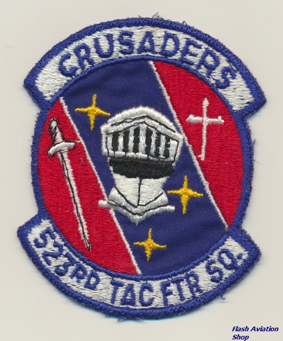 Image not found :523rd Tac Ftr Sqn, Crusaders (dark blue)